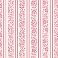 Seamless Background With Floral Pattern And Stripe Royalty Free Stock Images - 34020799