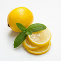 Lemon And Mint Royalty Free Stock Photography - 34028507