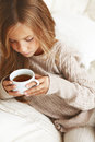 Child Drinking Tea Stock Photos - 34029493