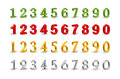 Numbers Web 3D Icons. Stock Image - 34055411
