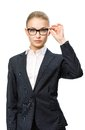 Half-length Portrait Of Female Business Man In Glasses Stock Photography - 34057572