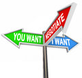 Negotiate You And I Want Street Signs Negotiation Agreement Stock Image - 34057671