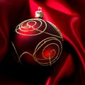 Abstract Christmas Background On Luxury Cloth Stock Image - 34066311