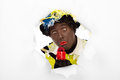 Zwarte Piet Sinterklaas (black Pete) Stock Photography - 34068102