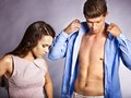 Couple Dress Up Clothes. Stock Photography - 34070082