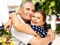 Happy Old Couple Outdoor. Stock Image - 34070151