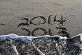 2013 To 2014 In The Sand Stock Images - 34084484