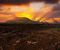 Sunset Over Volcano Royalty Free Stock Images - 34092259