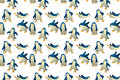 Seamless Cute Baby Penguin Background Pattern (can Join Pro Royalty Free Stock Images - 34092999