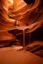 Sand Waterfall In Canyon Royalty Free Stock Photo - 34095215