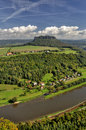 Lilienstein Mesa Above The River Elbe. Stock Image - 34096271
