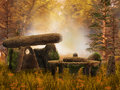 Autumnal Forest With Fantasy Ruins Royalty Free Stock Photography - 34097317