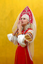 Russia Girl A National Suit Royalty Free Stock Photos - 3410408