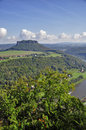 Lilienstein Mesa Above The River Elbe. Stock Photo - 34100010