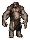 Brown Ogre Monster Royalty Free Stock Photos - 34100898