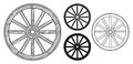 Old Wooden Wheel Royalty Free Stock Photo - 34102005