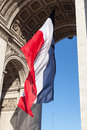 French Flag Triumphal Arch. Royalty Free Stock Photography - 34112297