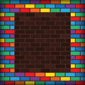 Rainbow Bricks Stock Photography - 34123082