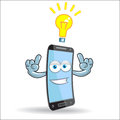 Vector Cell Mobile Mascot Stock Images - 34126204