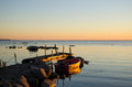 Sunlit Old Jetty Royalty Free Stock Photos - 34133848