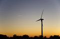 Windmill Silhouette Royalty Free Stock Image - 34134176