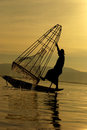 Fisherman Of Inle Lake Royalty Free Stock Photography - 34145147