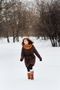 Young Beautiful Woman In Winter Royalty Free Stock Photo - 34146575