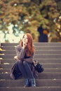 Girl At Outdoor. Stock Photo - 34168880