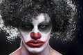 Spooky Clown Portrait On Black Background Royalty Free Stock Images - 34169279
