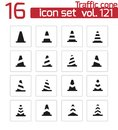 Vector Black Traffic Cone   Icons Stock Images - 34169594