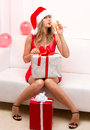 Christmas Party Girl Stock Photo - 34171370