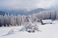 Mountain Valley In Winter Royalty Free Stock Photos - 34194968