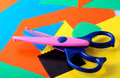 Colourful Paper And Scissors Stock Images - 3425264