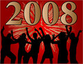 Happy New Year 2008 Stock Photography - 3429022
