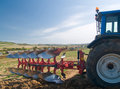 Tractor With Plow Stock Image - 3429611