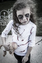 Little Zombie Girl Royalty Free Stock Images - 34200599