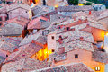 Roofs Of Spanish Mountains Town In Evening Royalty Free Stock Photography - 34205467
