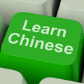 Learn Chinese Key Shows Studying Mandarin Online Stock Photos - 34212983