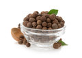 Allspice In Bowl On White Stock Photo - 34213340