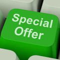 Special Offer Sign Shows Promotional Discount Online Royalty Free Stock Image - 34213896