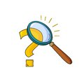 Magnifying Glass And Question Royalty Free Stock Photography - 34215057