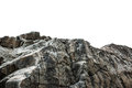 Rocky Cliff Isolated On White Stock Photo - 34215530