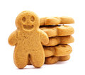 Stack Of Gingerbread Cookies Royalty Free Stock Photos - 34219058