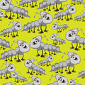 Seamless Pattern Large And Small Caterpillars Royalty Free Stock Photos - 34221368