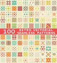 Retro Different Vector Seamless Patterns (with Royalty Free Stock Images - 34236289