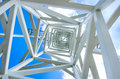 Close Up On White Steel Tower. Royalty Free Stock Images - 34242079