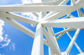 Close Up On White Steel Tower. Stock Image - 34242111