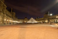 The Louvre Palace (by Night), France Royalty Free Stock Photo - 34249645