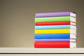 Textbooks In Different Colors Stock Photography - 34259622