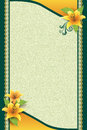 Greeting Card With Flower And Ornamental Background Royalty Free Stock Image - 34263536